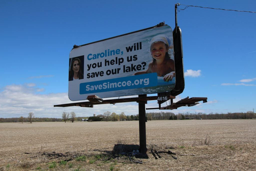 Lake Simcoe Watch billboard